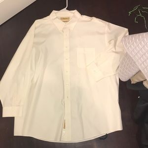 Roundtree & yorke gold label dress shirt 19 34 big